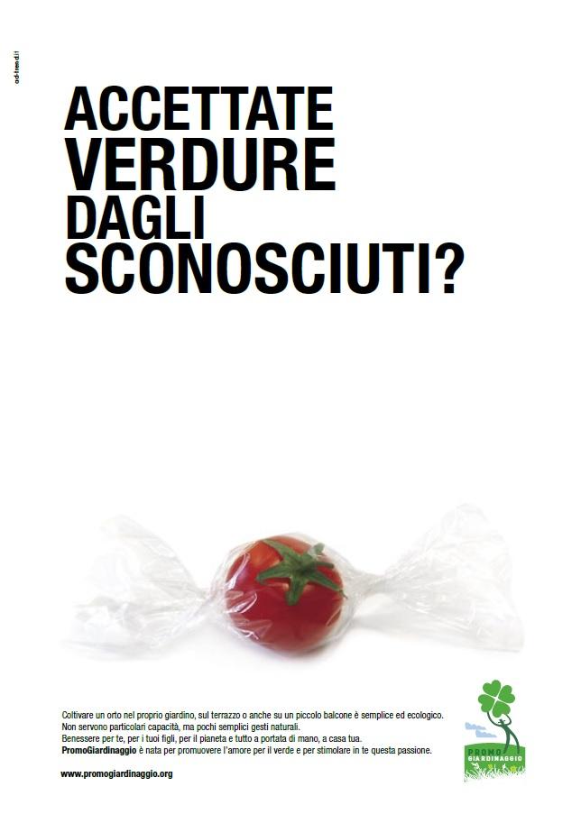 non accettate verdure dagli sconosciuti